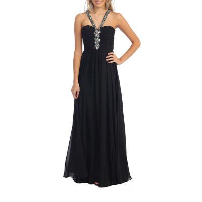Simple Halter Bridesmaids Dress & Plus Size