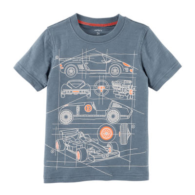 Carter's Short Sleeve Round Neck T-Shirt-Preschool Boys