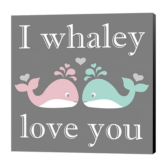 Metaverse Art I Whaley Love You Canvas Wall Art