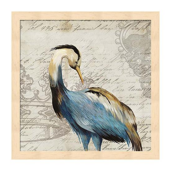 Metaverse Art Heron I Framed Wall Art