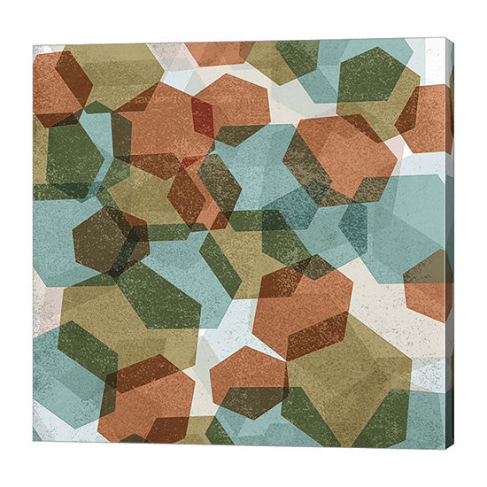 Metaverse Art Hexagons I Canvas Art