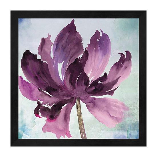 Metaverse Art Tye Dye Floral I Framed Wall Art