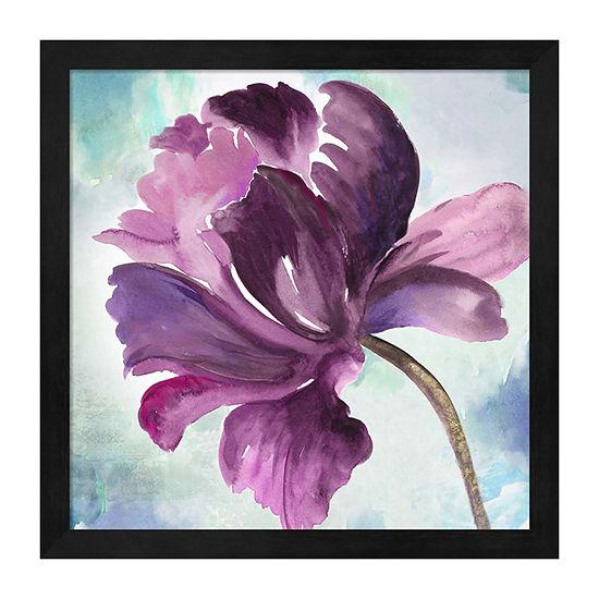 Metaverse Art Tye Dye Floral II Framed Wall Art