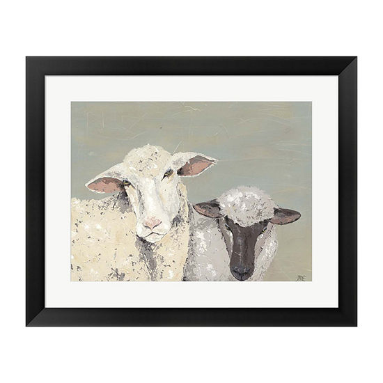 Metaverse Art Sweet Lambs I Framed Wall Art