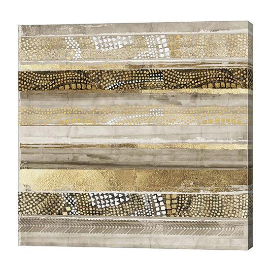Metaverse Art Klimt Stripes Canvas Art