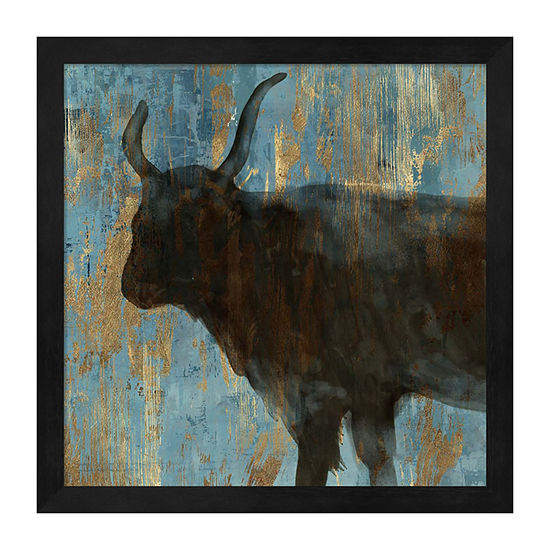 Metaverse Art Bison Ii Framed Wall Art