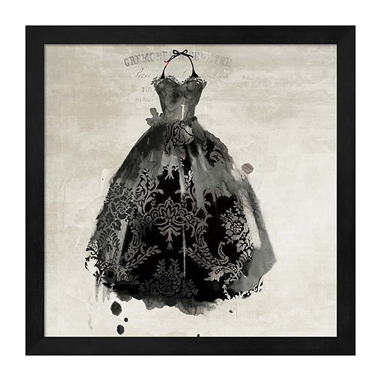 Metaverse Art Black Dress Ii Framed Wall Art