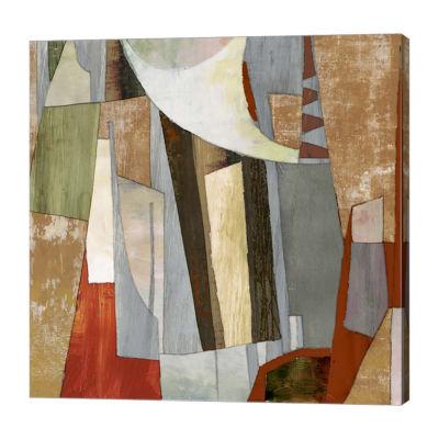 Metaverse Art Landscape Collage Canvas Art