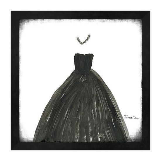 Metaverse Art Black Dress III Framed Wall Art