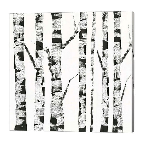Metaverse Art White Birch Canvas Art