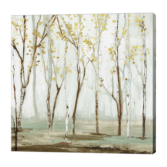 Metaverse Art White On White Landscape Canvas Art
