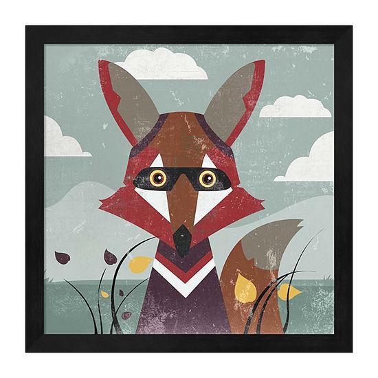Metaverse Art Fox Framed Wall Art
