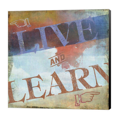 Metaverse Art Live and Learn Canvas Art