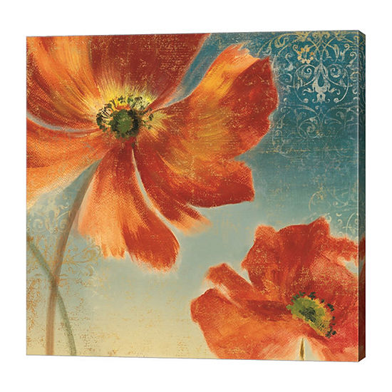 Metaverse Art Lovely I (New Orange Poppies) FramedCanvas Art