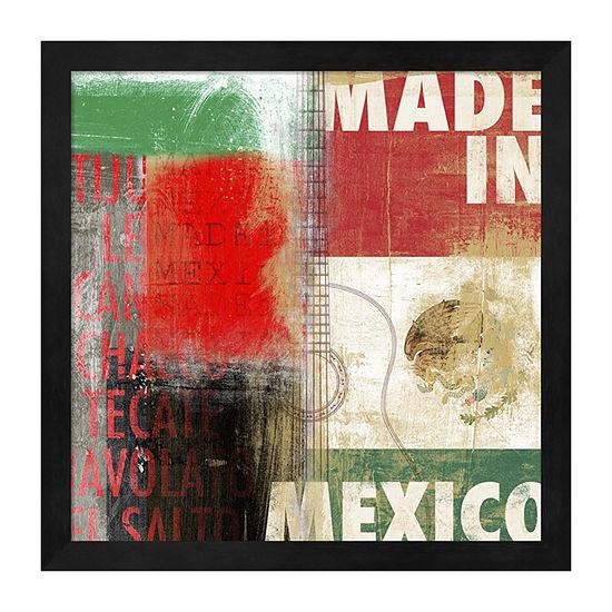 Metaverse Art Mexico Framed Wall Art