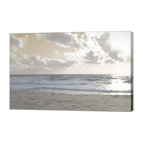 Metaverse Art Serene Sea III Canvas Wall Art