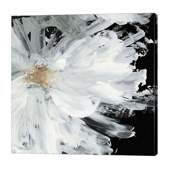 Metaverse Art Black Peony Canvas Art