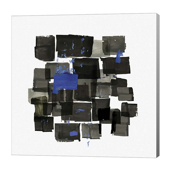 Metaverse Art Black Tiles Canvas Art