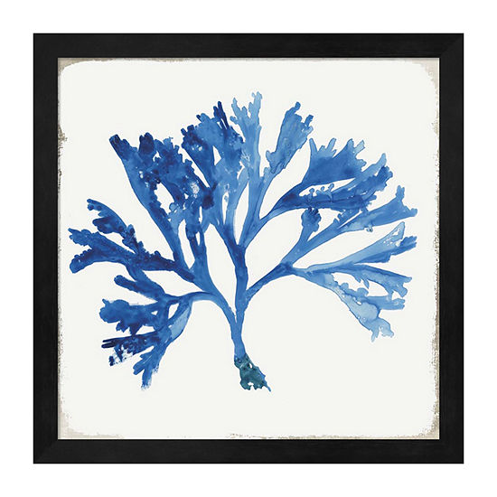 Metaverse Art Blue and Green Coral IV Framed WallArt