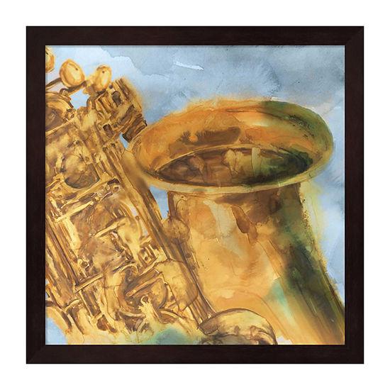 Metaverse Art Musical Sax Framed Wall Art