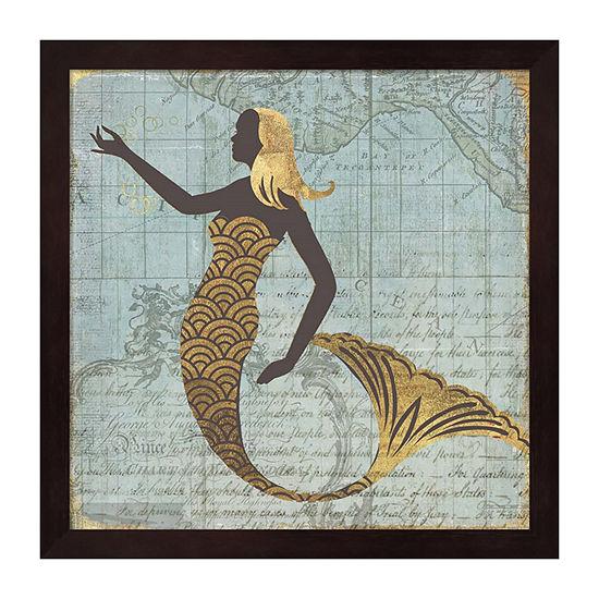 Metaverse Art Nautical Beauty Framed Wall Art
