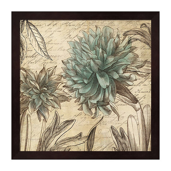 Metaverse Art Blue Botanical I Framed Wall Art