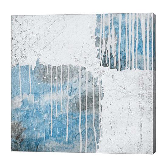 Metaverse Art Blue Drips Canvas Art