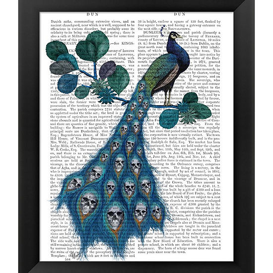 Metaverse Art Peacock Soul Gatherer Framed Wall Art