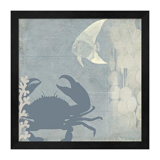 Metaverse Art Ocean Life II Framed Wall Art