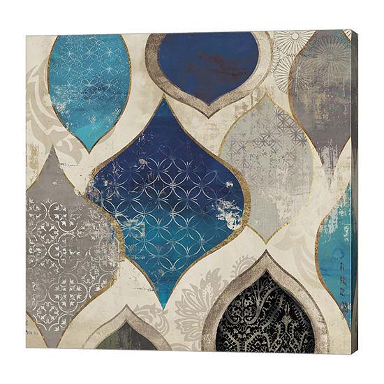 Metaverse Art Blue Motif II Canvas Art