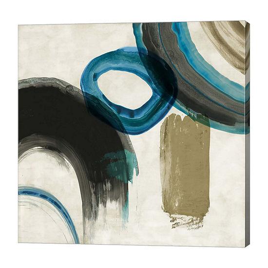 Metaverse Art Blue Ring II Canvas Art