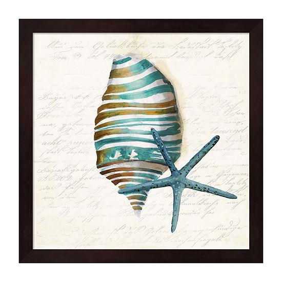 Metaverse Art Blue Sealife I Framed Wall Art