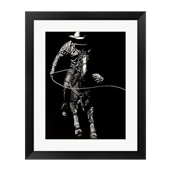 Metaverse Art Scratchboard Rodeo Viii Framed Wallart