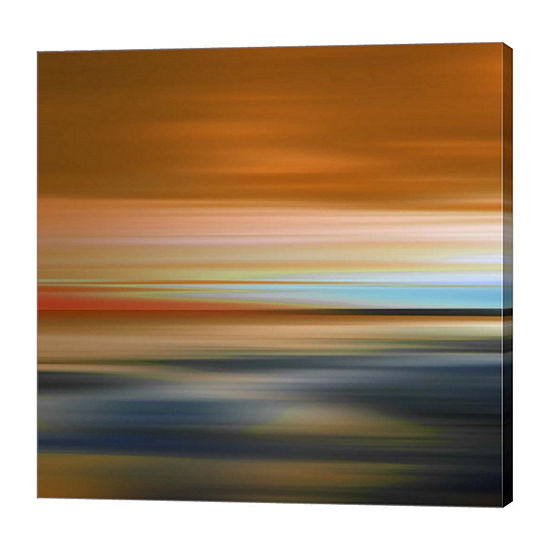 Metaverse Art Blurred Landscape I Canvas Art