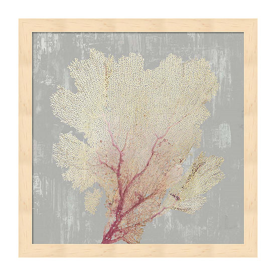Metaverse Art Blush Coral II Framed Wall Art