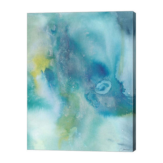 Metaverse Art Sea Jade I Canvas Wall Art