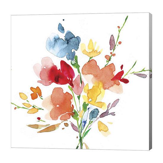 Metaverse Art Bouquet Canvas Art