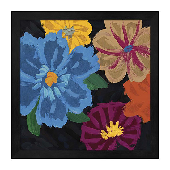 Metaverse Art Bright Flowers II Framed Wall Art