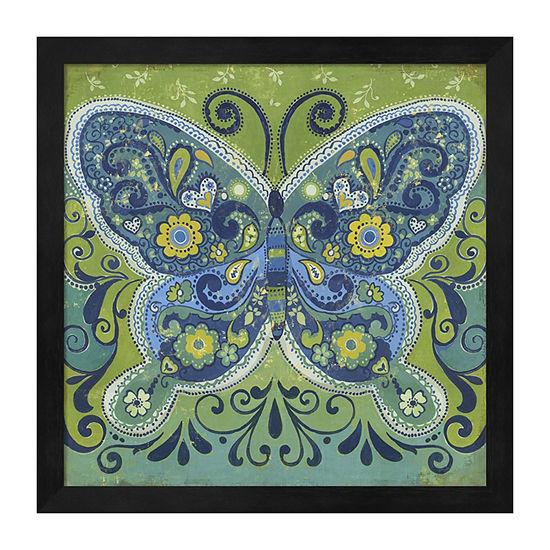 Metaverse Art Butterfly Mosaic Framed Wall Art