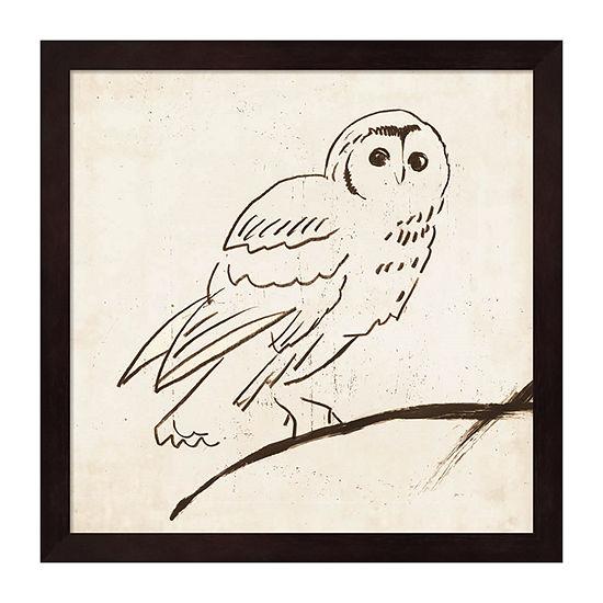 Metaverse Art Owl II Framed Wall Art