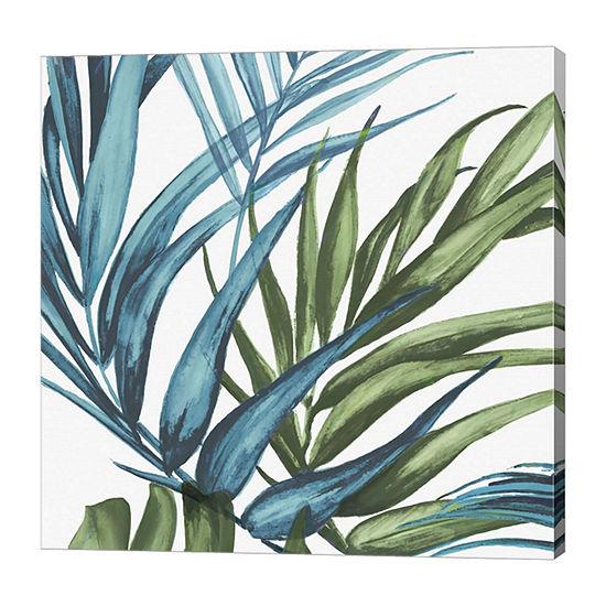 Metaverse Art Palm Leaves II Canvas Art