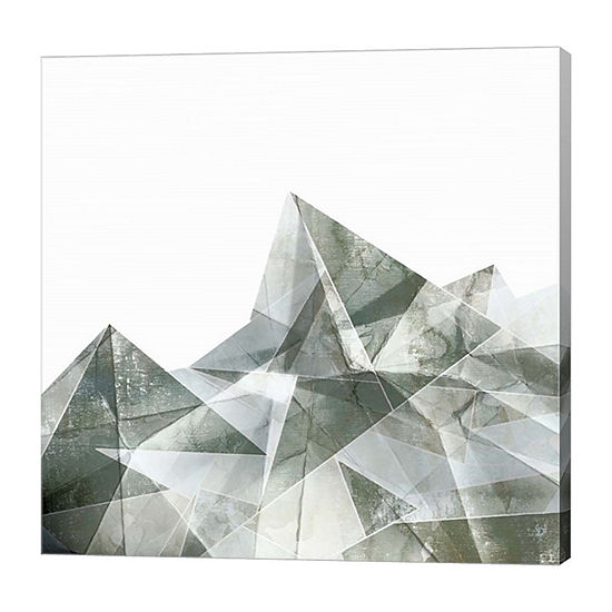 Metaverse Art Paper Mountains I Canvas Art