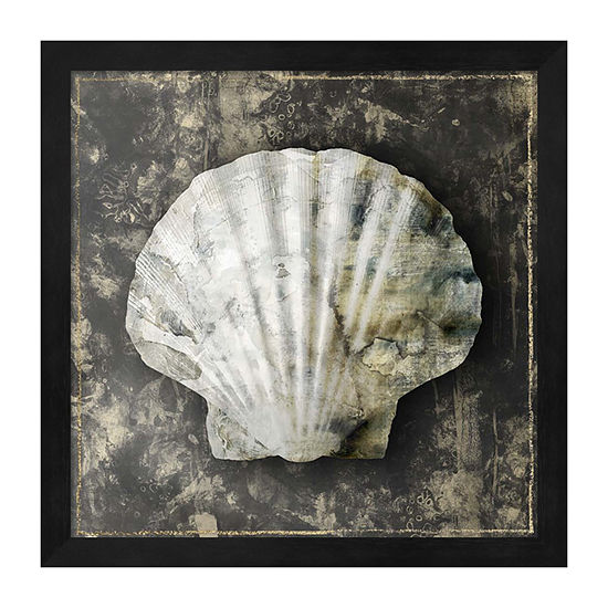 Metaverse Art Marble Shell Series IV Framed Wall Art