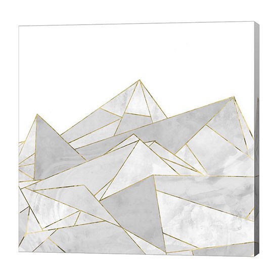 Metaverse Art Marbled Geo Mountains I Canvas Art