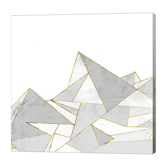 Metaverse Art Marbled Geo Mountains II Canvas Art