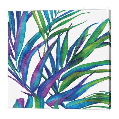 Metaverse Art Colorful Leaves II Canvas Art