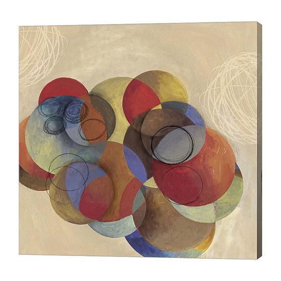 Metaverse Art Cubist Circles Canvas Art