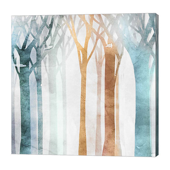 Metaverse Art Dancing Trees I Canvas Art