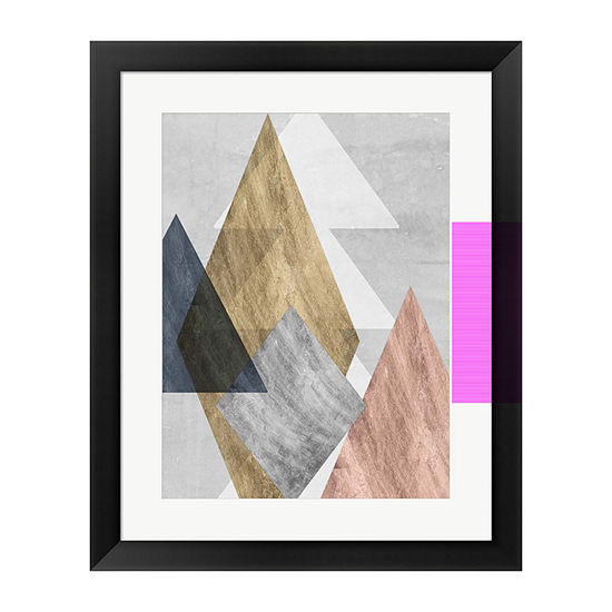 Metaverse Art Peaks I Framed Wall Art
