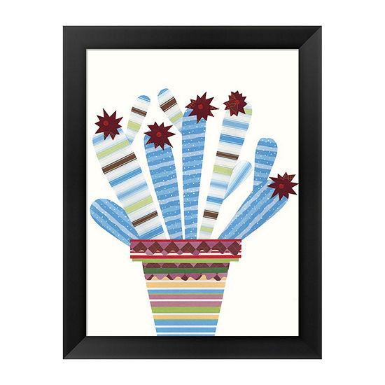 Metaverse Art Cheerful Succulent I Framed Wall Art